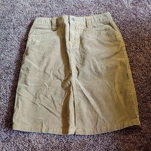 Tommy Hilfiger tan corduroy midi pencil skirt